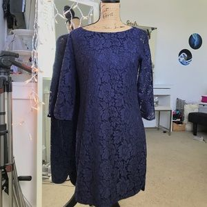 Vince Camuto Navy Lace Dress